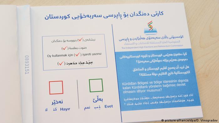 Irak Unabhängigkeitsreferendum der Kurden (picture-alliance/dpa/D. Vinogradov)