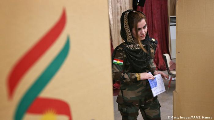 Irak Kurden stimmen über Unabhängigkeit ab (Getty Images/AFP/S. Hamed)