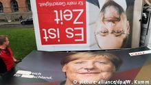 Deutschland Nach der Bundestagswahl Plakate Merkel und Schulz
