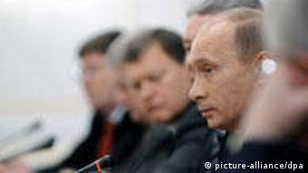 Prime Minister Vladimir Putin meets United Russia Party leaders to discuss anti-crisis measures