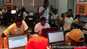 Penplusbytes NGO Social Media Tracking Center in Accra (DW Akademie/Penplusbytes)