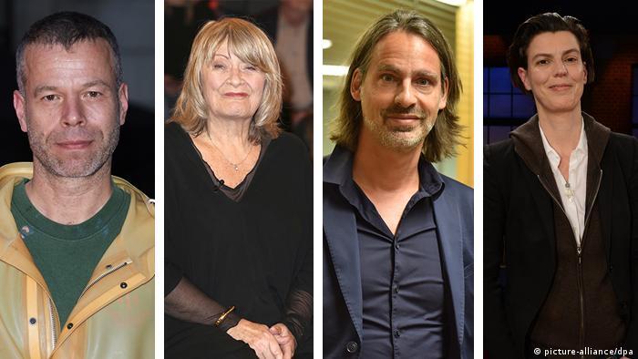 Collage 4er Bildkombo Wolfgang Tillmans, Alice Schwarzer, Richard David Precht, Carolin Emcke