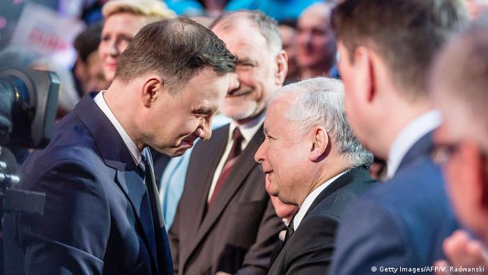 Prezydent Andrzej Duda (l.) i szef PiS Jarosław Kaczyński