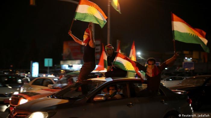 Irak Kurden feiern Referendum (Reuters/A. Jadallah)