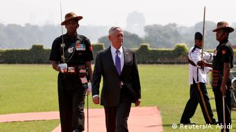 US Defense Mattis is received in India on his visit