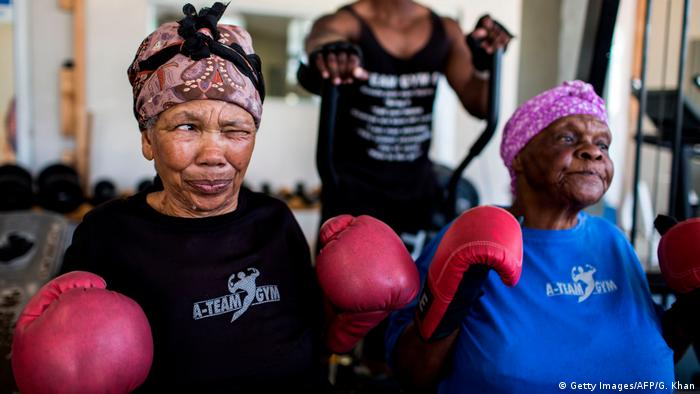 Südafrika Boxende Omas