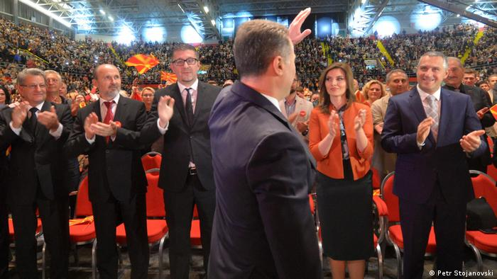 Mazedonien, Konvention der VMRO-DPMNE Partei in Skopje (Petr Stojanovski)