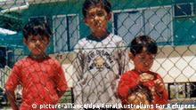 (FILE) A handout picture dated 15 December 2003 shows some of the 93 children in the refugee camp on the Pacific island of Nauru. A planeload of Sri Lankan asylum- seekers arriving in Brisbane on 08 February 2008 from Australia's offshore immigration detention centre on the Pacific Island of Nauru signalled the end of the controversial 'Pacific Solution' to unwanted arrivals by sea. The 21 Sri Lankans, who will be settled in Australia, are the last occupants of the Nauru centre, which will now be closed permanently. Australia's other offshore centre, on Manus Island in Papua New Guinea, has already closed. EPA/RURAL AUSTRALIANS FOR REFUGEES - BEST QUALITY AVAILABLE - AUSTRALIA AND NEW ZEALAND OUT EDITORIAL USE ONLY +++(c) dpa - Bildfunk+++ |