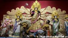 Caption : Durga Puja festival is being celebrated in Kolkata, the capital of West Bengal state, India. Durga Puja, also called Durgotsav and Navaratri, is an annual Hindu festival that reveres the goddess Durga. It's also celebrated at the beginning of summer, although the autumn festival is more popular. At the heart of the nine-day festival is a celebration of a specific aspect of God - the feminine.