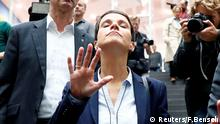 Frauke Petry (C), chairwoman of the anti-immigration party Alternative fuer Deutschland (AfD) reacts as she leaves a news conference in Berlin, Germany, September 25, 2017. REUTERS/Fabrizio Bensch TPX IMAGES OF THE DAY