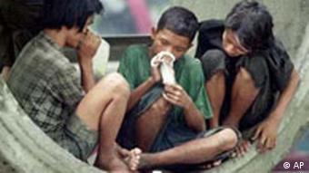 Thailändische Straßenkinder