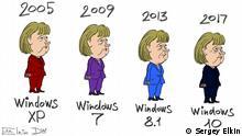 Merkel und die Wahlen in Deutschland.