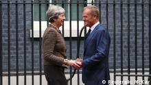 Großbritannien Theresa May & Donald Tusk