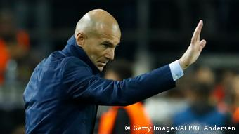 Fußball Champions League Borussia Dortmund v Real Madrid Trainer Zidane (Getty Images/AFP/O. Andersen)