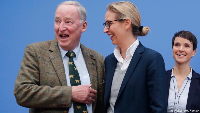 Deutschland Alexander Gauland, Alice Weidel und Frauke Petry in Berlin (Reuters/W. Rattay)