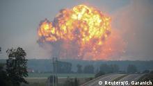 Ukraine Explosion im Militärdepot in Kalynivka