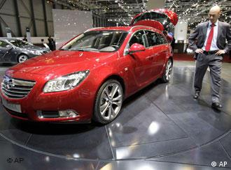 An Opel Insignia on display in Geneva