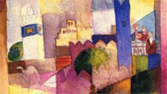 Август Маке. Одна из картин, созданных по итогам поездки в Тунис
