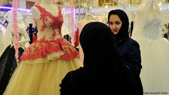 Saudi Arabien Frauen Hochzeit (Getty Images/A.Hilabi)
