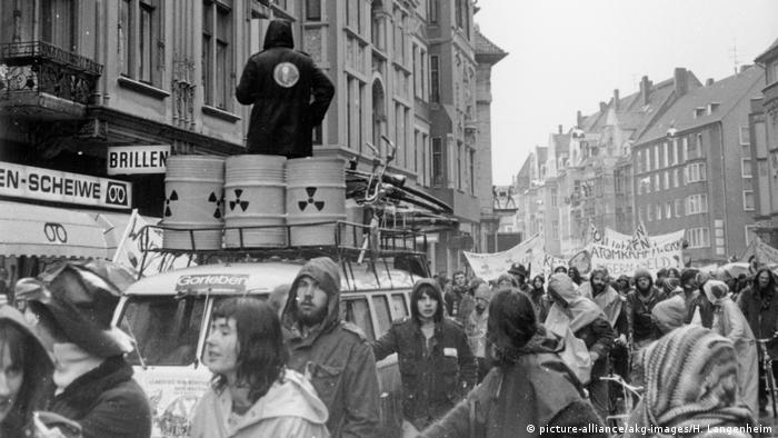 Anti-nuclear power protests in Hanover, Germany in 1979