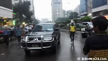 Bangladesch Verkehr in Dhaka Geisterfahrer