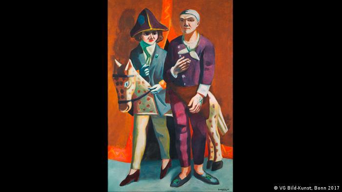 Max Beckmann in Bremen, Carnival Double Portrait, 1925
