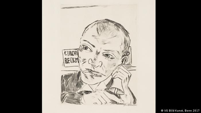 Max Beckmann in Bremen, The Barker (Self-Portrait), 1921 (VG Bild-Kunst, Bonn 2017)