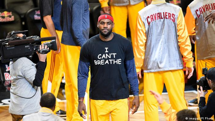 USA LeBron James- I can t Breathe (imago/UPI Photo)