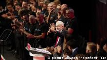 (170927) -- BRIGHTON, Sept. 27, 2017 () -- Labour Party leader Jeremy Corbyn gestures before giving a speech on the last day of the Labour Party's Annual Conference in Brighton, Britain on Sept. 27, 2017. The Labour Party's Annual Conference closed in Brighton on Wednesday. (/Han Yan) (swt) |
