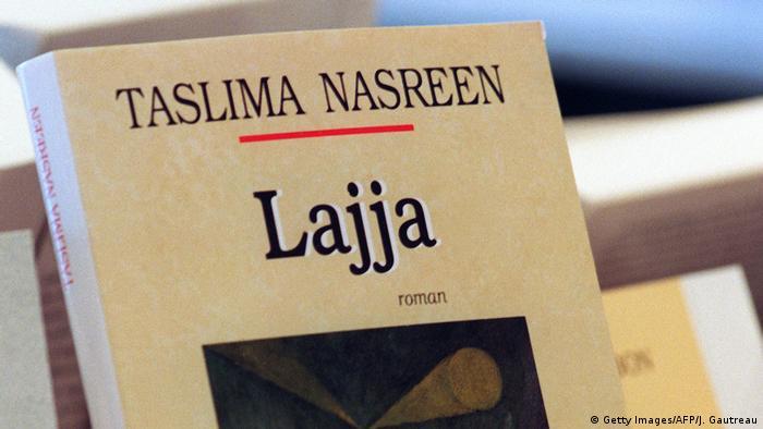 Buchcover Lajja Taslima Nasreen (Getty Images/AFP/J. Gautreau)