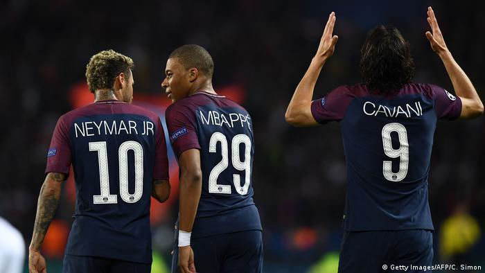 bb447cd6947 Champions League - Paris St Germain vs Bayern München Neymar Mbappe Cavani  (Getty Images/