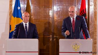 Albanien Tirana Besuch Ramush Haradinaj