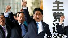 Japan Wahlen - Shinzo Abe (Reuters/T. Hanai)