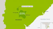 Karte Mosambik Gorongosa National Park ENG