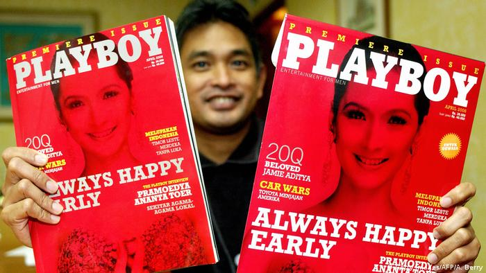 Indonesien 1. Playboy-Ausgabe Erwin Arnada, publisher and director (Getty Images/AFP/A. Berry)