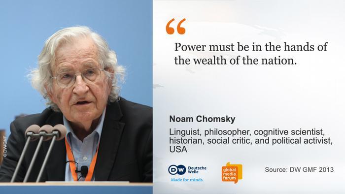 Zitat-Tafel Top Speaker GMF 2013 Noam Chomsky