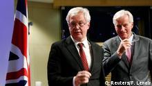 Belgien Brexit-Gespräche David Davis und Michel Barnier