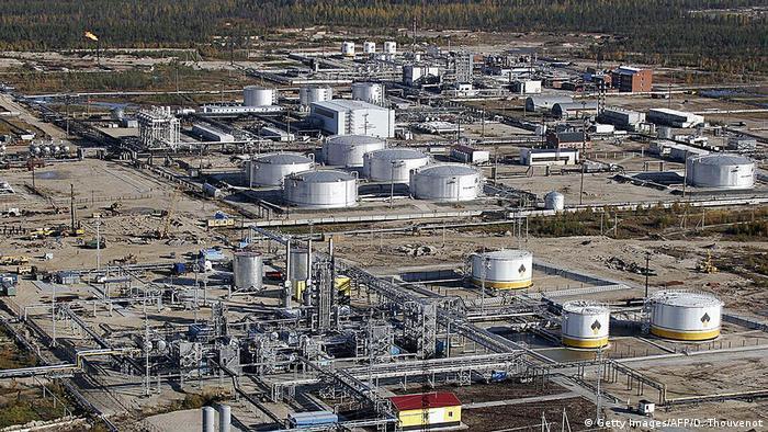 Russland Rosneft-Erdgasfeld in Gubkinsky