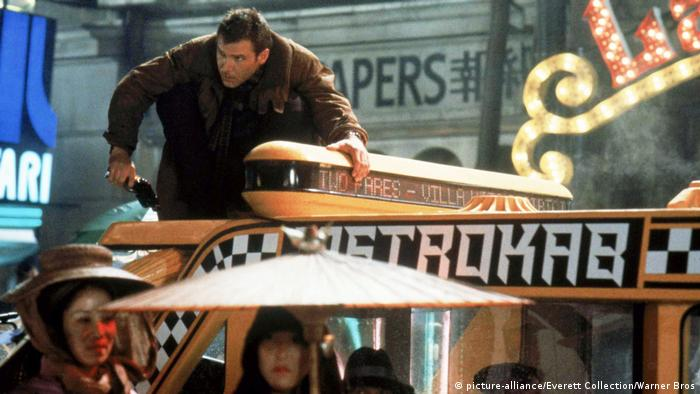 Harrison Ford in a still from the 1982 film Blade Runner