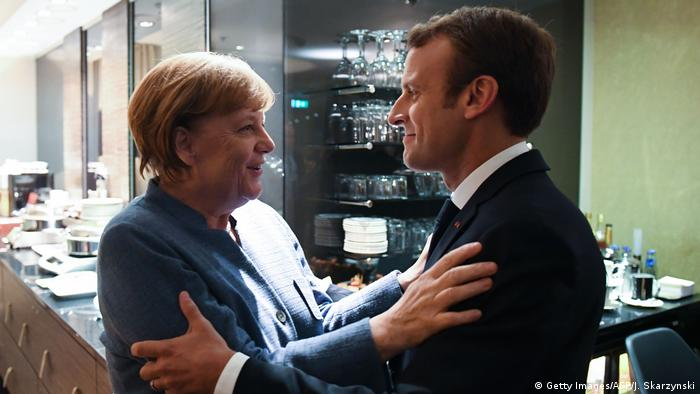 Emmanuel Macron and Angela Merkel (Getty Images/AFP/J. Skarzynski)