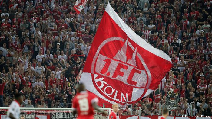 Cologne fans during a 2017 Europa League match against Red Star Belgrade (Reuters/W. Rattay)