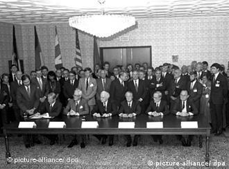 Церемония подписания Договора 2+4