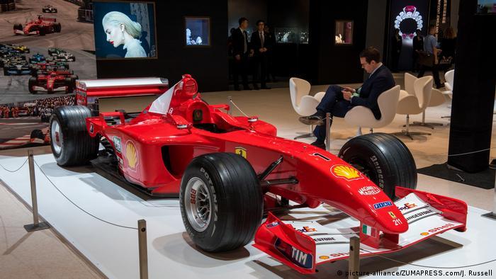Michael Schumacher's Formula One Ferrari shown in Hong Kong at a Sotheby's exhibition