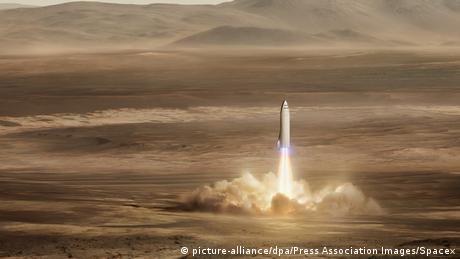 SpaceX will Menschen ab 2024 auf den Mars bringen (picture-alliance/dpa/Press Association Images/Spacex)