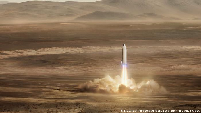 SpaceX will Menschen ab 2024 auf den Mars bringen (picture-alliance/dpa/Press Association Images/Spacex)