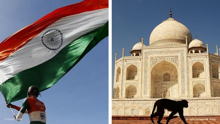 Collage: Flagge Indien und Taj Mahal (Foto: Getty Images)