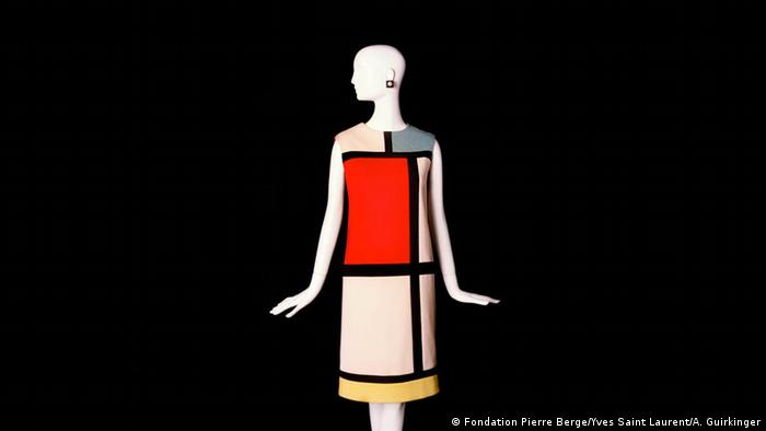 Mondrian Kleid von Saint Laurent im Museum in Paris (Foto: Fondation Pierre Berge/Yves Saint Laurent/A. Guirkinger)