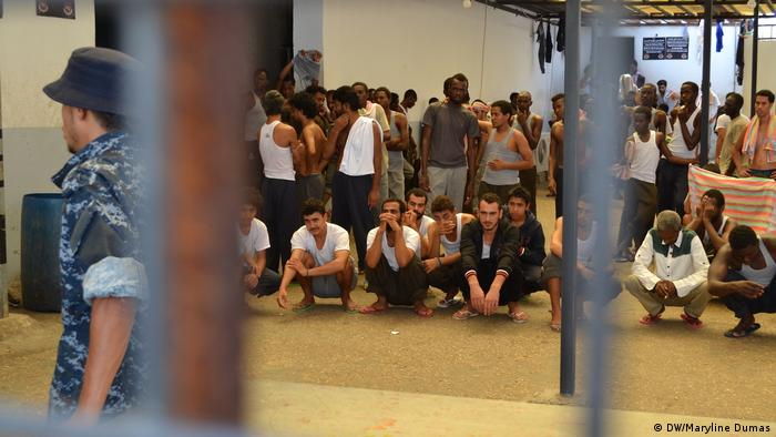 Detention center in Libya (DW/Maryline Dumas)