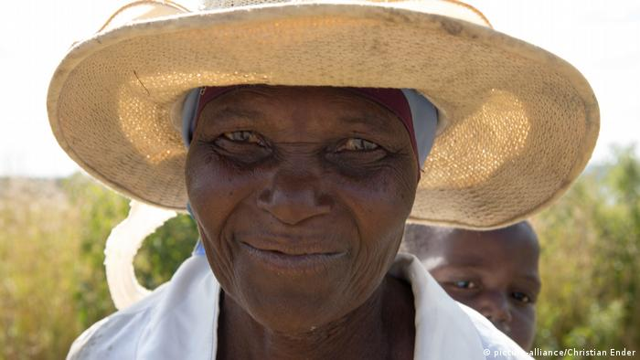 An old African woman