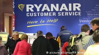 Стойка Ryanair в аэропорту Дублина